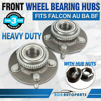 Front Wheel Bearing Hub+Nut for Ford AU BA BF Falcon Fairmont XR6 XR8 Territory