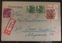 1948 Dusseldorf Germany AMG Registered Cover To Soest