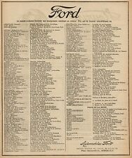Y9040 Automobili FORD - Pubblicità d'epoca - 1920 Old advertising