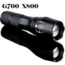G700 X800 8000lumen Zoomable XML T6 LED 18650 LAMPE TORCHE Focus léger
