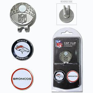 Denver Broncos NFL Team Golf Cap Clip with 2 Magnetic Enamel Ball Markers