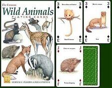 Animales salvajes set de 52 carta de JUEGO + BROMISTAS ( HPC )
