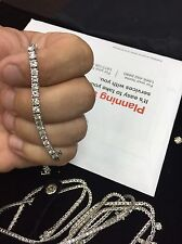 4.00 CTW BRILLIANT ROUND CUT NATURAL DIAMOND TENNIS BRACELET 14K WHITE GOLD