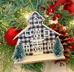 New! Barn Buffalo Check Christmas Ornament Farmhouse Country Rustic