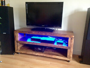 Rennes  rustic wooden tv stand