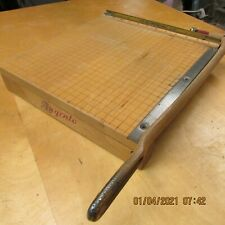 Beautiful Vintage Solid Maple Ingento Photo Paper Cutter 12X12 Guillotine Style