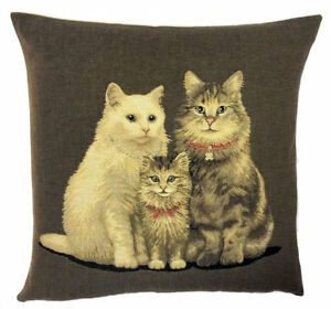 Cat Family Pillow Cover - Cat Lover Gift - Cat Decor - 18x18 Cat Throw Pilllow