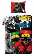 LEGO NINJAGO Movie Ninja by Night Kids Single Bed Duvet Cover Set 100% COTTON