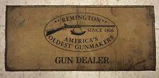 "REMINGTON GUN DEALER Counter Top FOAM PAD Mat 24"" x 10-1/4"" 1950s? Made USA"