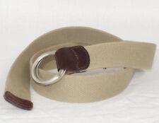 Lucky Brand Tan Cotton O-Ring Belt Sz. 30