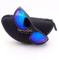 ef051430a0d Wiley X Ignite Matte Black Blue Polarized Sunglasses Authentic New ACIGN09  rl