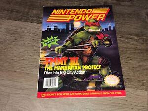 Nintendo Power Volume 33 Guide Book Teenage Mutant Ninja Turtles III w/Poster
