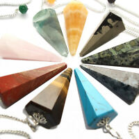 Gemstone Crystal Point Dowsing Pendulum Scrying Dowser Healing Reiki Therapy