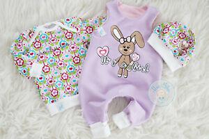 ♥ Babyset, Gr. 50/56, handmade Unikat, Strampler, Frühchen, Geburtsgeschenk ♥