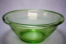 "Original Vintage Hocking Glass Co Vintage Green Uranium  9""  Wide Bowl"