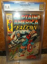 Marvel comics Captain America 135 Falcon 1971 CGC 9.4  Nick Fury Avengers