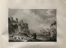 Eau Forte XVIIIème - Mont Éryx - Sicile - Italie - Châtelet - Pâris