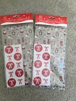 Christmas wrapping tissue paper with stickers 10 sheets and 20 stickers