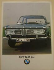 BMW 2000 TiLux Saloon 1967-68 Original UK Foldout Sales Brochure Pub No 12283a5