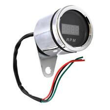 52mm 2'' Motorcycle Tachometer Digital Display Chrome Plated