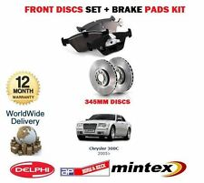 FOR CHRYSLER 300C 3.0 3.5 5.7 2005-->ON FRONT BRAKE DISCS SET AND  DISC PADS KIT
