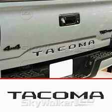 For TOYOTA TACOMA 2014-2018 BLACK Tailgate Letters Insert Plastic Sticker
