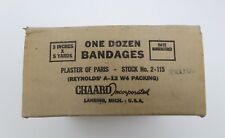 WWII US Plaster of Paris Bandages 12 pc original case dated 1945 sealed E1800