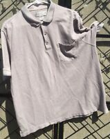 Men's Grand Slam Golf Polo Button Collar Shirt Cotton Polyester Sz Large