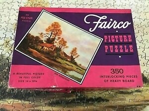 "Vintage Fairco Puzzle ""OLD HOMESTEAD"" 350 Pieces Complete!"