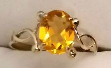 585 Gelbgold Damen-Ring mit valen Goldzitrin Unikat Handarbeit 14 Karat NEU