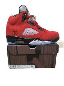 Jordan 5 Retro Raging Bull Red 2021 Size 8 US MENS 100% Authentic