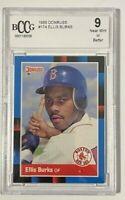 1988 Donruss # 174 Ellis Burks Card Beckett 9 NM or Better Donruss Anniv Red Sox