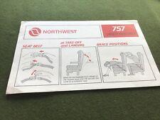 safety card northwest b757