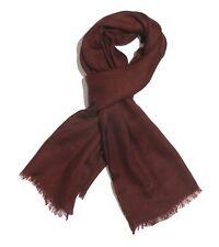"SALE- Burgundy 100% Merino Wool Scarf 72""x28"" Unisex, Brand NEW"