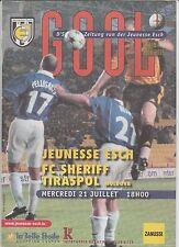 Orig.PRG  Champions League  2004/05  JEUNESSE ESCH - SHERIFF TIRASPOL !! SELTEN