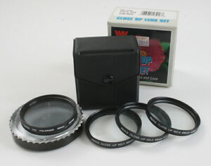 LOT OF FOUR 49MM FILTERS, POLARIZER, CLOSE UP SET +1, +2, AND +4/174528