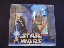 Star Wars Darth Maul TPM EP1 Phantom Mennace Collectible Glass & Figure Set Cup