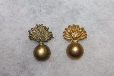 Two Original WW2 Royal Canadian Army Officer Engineer Metal Collar Insignia