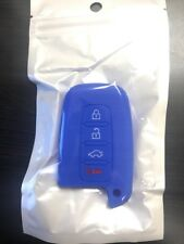 Blue Silicone Car Key Fob Case Cover For Hyundai 4 Buttons All models 2009-2015