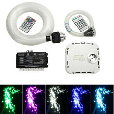 32W RGB 4-Speed Twinkle LED Fiber Optic Star Ceiling Meteor Light Kit 835pcs 5M