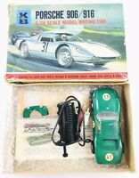 Vintage K&B Porcshe 906/916 1/24 Scale Model Racing Car w/ Original Controller