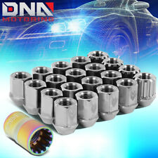 NRG LN-T200SL-21 16PCS 27MM TITANIUM OPEN END LUG NUT W/4 LOCK + ADAPTER M12X1.5