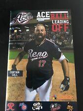 2019 Reno Aces AAA Diamondbacks Game Day Program