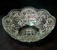 "Extraordinary Antique Glass Bowl 9 1/2""W  x 3 3/4""H"