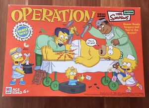 THE SIMPSONS EDITION: Operation Electronic Board Game Incomplete 2005