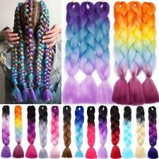 5 Packs Jumbo Hair Extensions kanekalon Braiding Hair Box Twist Braids For Human