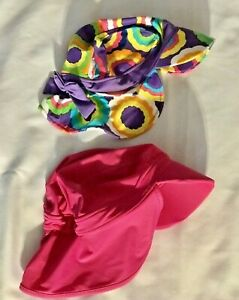 HANNA ANDERSSON Out Of The Sun 2 Hats Girl's Sz S 2-5 & M 3-6 Years
