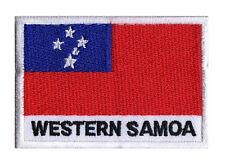 Patch brodé écusson pays à coudre patche drapeau SAMOA 70 x 45 mm
