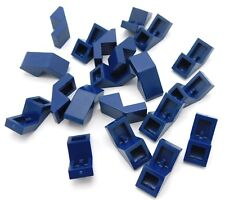 Lego Lot Of 20 New Dark Blue Slope 45 1 X 2 With Cutout Pieces