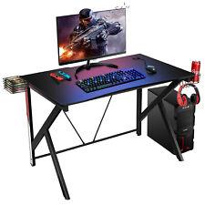 Gaming Tisch Computertisch Schreibtisch Bürotisch PC Tisch mit Getränkehalter